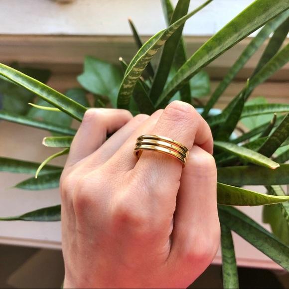 Trio Ancien Gold Ring